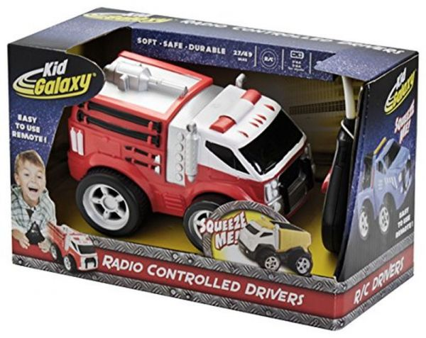 Kid Galaxy Squeezable Remote Control Fire Truck  RC Toy for