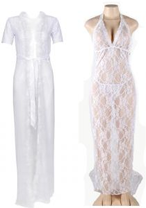 IngerT Ladies Nighty Nightwear Sleepwear Robe Dress Set with Thongs for  Women e5978d5e7