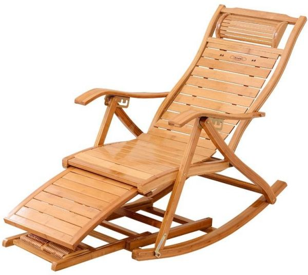 Rubik Adjustable Wooden Recliners Rocking Chair Folding Relaxing Arm Chair  sc 1 st  Souq.com & Rubik Adjustable Wooden Recliners Rocking Chair Folding Relaxing Arm ...