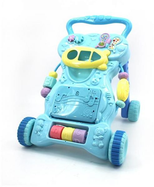 Baby stroller walkers multi-function step with machine learning to help car walkers to play for kids multicolor