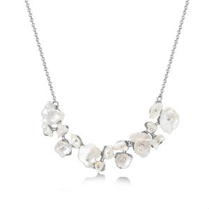 f6b550359 Mestige Amora Pearl Necklace With Swarovski Crystals For Women - Silver