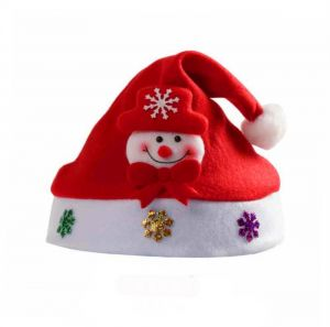 fd7d60779f768 Kids Santa Hat Funny Snowman Christmas Hats for Kids Child Accessories