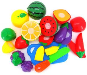 5304361b1ea 9 Pcs Pretend Play Plastic Food Toy Cutting Fruit Vegetable Food Pretend  Play Children For Children