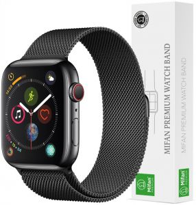 9bb751045d8 Mifan Official Milanese Loop Band for Apple Watch 40mm 38mm Series 1 2 3 4 Replacement  Strap Mesh Stainless Steel Anti Sweat Cooling Wristband Bracelet with ...