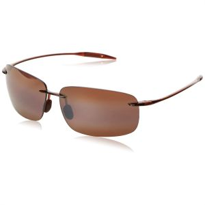f811748d3e1a Maui Jim Rectangle Unisex Sunglasses - Bronze, Breakwall H422-26