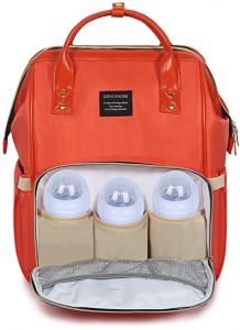 Orange Pregnant Women Out Waterproof Bag Diaper Bag Backpack b5d1a10553f50