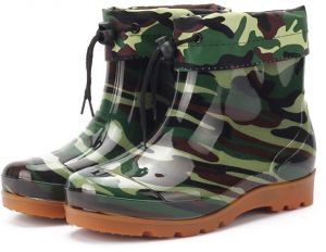 41f19ca0b44 Rain Boots Non-slip Low Tube Breathable Men s Rain Boots Kitchen Car Wash  Water Shoes Work Fishing Rubber Shoes Soft Comfy Camouflage Work Boots