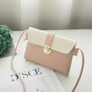 8868e409878 SSYFashion Casual PU Pink Crossbody Bags For Women Small Shoulder Bags