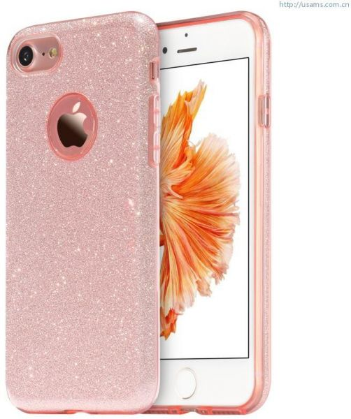 cover glitter for iphone 7 / 8 / pink