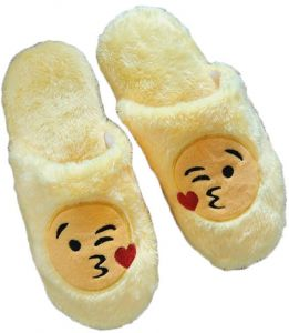 Soft Cotton Indoor Floor Expression Slippers Cute Emoji House Shoes Soft  Bottom Winter Warm Slippers Slipper For Unisex For Bedroom(Asian Size 36-37) 0e8d1a60f3e1