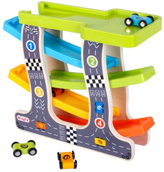 f5f50da6099 MingTa Race Track with Wooden Toy Cars - Ramp Racer