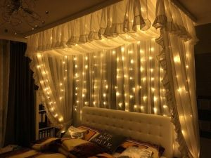 Curtain String Light Le Starry Lighting 300led Decorative Lamp Home Decoration Lights For Indoor Window Outdoor Wedding Bedroom Wall Party