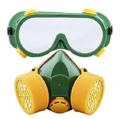 Spray Paint Mask >> Dual Anti Dust Spray Paint Industrial Chemical Gas Respirator Mask Glasses Set