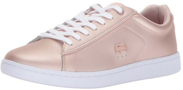 3ebecc4fc9f Lacoste Rose Gold Fashion Sneakers For Women