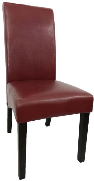 Set Of 2 Home Dining Chair Restaurant Wooden Red