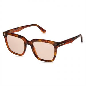 fea7bc5d18ae Tom Ford Square Unisex Sunglasses - Brown Lens