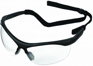 ERB 16873 ERBx Safety Glasses with +2.5 Bifocal Power, Black Frame with  Clear Lens 7ba6a00c35