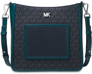 MICHAEL MICHAEL KORS Gloria Logo and Leather Messenger - Multi Color d8a593f1d0d93