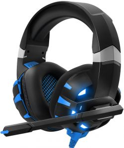 Gaming Headset Xbox One Headset With 71 Surround Sound Stereo Ps4 Headset With Noise Canceling Mic Led Light Compatible With Pc Ps4 Xbox One