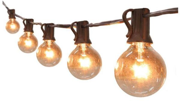 Globe string lights g ul listed patio lights for indoor outdoor