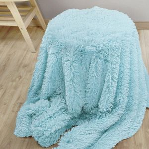 c2c3e9a784252 Nordmiex Double-face Blanket Faux Fur Throw with Flannel Lining Super Soft  Fuzzy Warm Blanket for Bedroom and Living room(160cm x 200cm