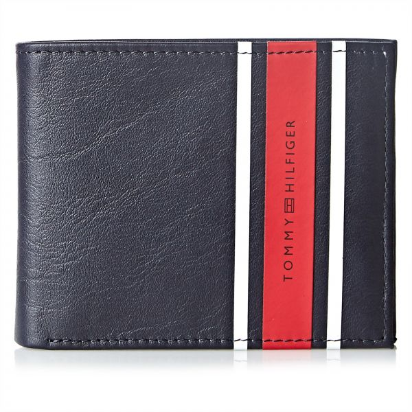 0f4fb49bb6a52c TOMMY HILFIGER URBAN STRIPE MINI CC WALLET FOR MEN - NAVY Price in ...