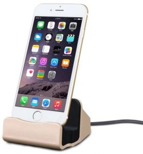 iPhone Charging Dock Desk Stand ,Stand Charger Lightening docking Cradle Holder for office Station Kitchen Compatible iPhone X/8/8 Plus/7/7Plus/6/6 ...