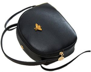 Bee Mini Backpack Leather Purses Small Crossbody Shoulder Bag Designer  Handbags for Women Girl Daily Travel Casual Daypack for gift black 43a7f93522