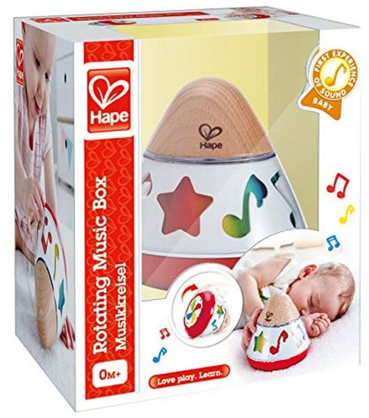 Hape Rotating Baby Music Box, Spin & Play The Music, Battery Not Needed