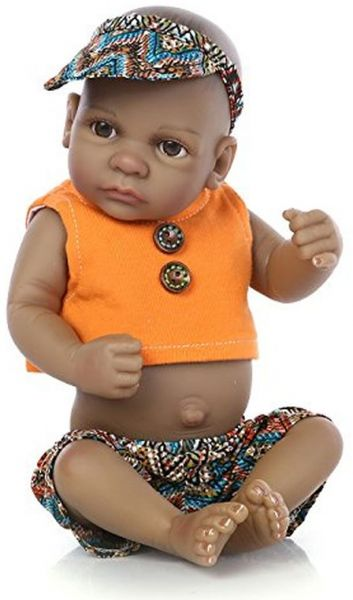 6ea3a51510 Pinky Handmade 10 inch 26cm born Baby Doll Full Body Soft Silicone Baby Doll  Realistic Looking Reborn Baby Dolls Lifelike Native American Indian Style  Black ...