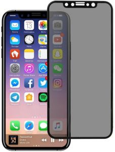 Unipha Anti-Dust Tempered Glass Privacy Screen Protector for Apple iPhone  XS Max - Black