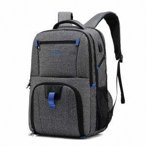 f911a4c501 POSO 17.3 Laptop Backpack Business Computer Bag with USB Port College  Student Back Pack Travel Hiking Bag for Unisex- Polyester