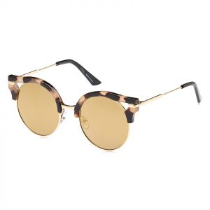 a15565694d6 TFL Round Sunglasses for Women - Gold Lens