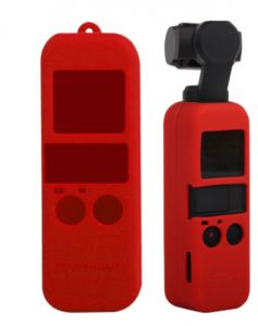 Silicone Cover Case Sling Strap combo For DJI Osmo Pocket 3-axis stabilized handheld MiNi camera Handle Gimbal red