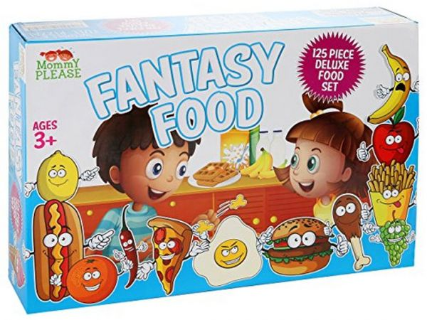 afa5d67e0003 Play Food Set for Kids   Toy Food for Pretend Play- Huge 125 Piece Play  Kitchen Set with Childrens Educational Food Toys for Toddlers Inspires  Imagination