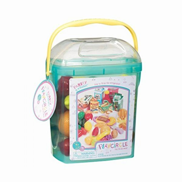 Play Circle By Battat Pantry In A Bucket 79 Piece Pretend Food Playset With Storage Bin Kitchen Toys And Plastic For Toddlers Age 3 Years Up