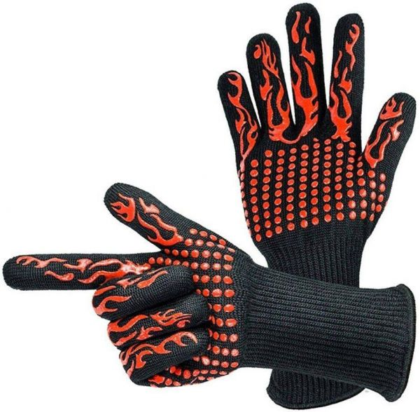 500/800 degree barbecue oven high temperature gloves, heat insulation and anti scalding microwave oven BBQ gloves
