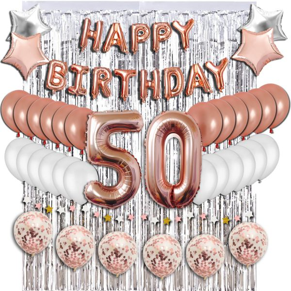 50th Birthday Decorations Party Supplies Sweet 50 Balloons