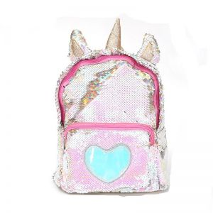 ed05a8e661 Sequins Unicorn Backpack Women PU Leather Mini Travel Soft Bag Fashion  SchoolBag For Teenager Student Girls Book Bag Satchel