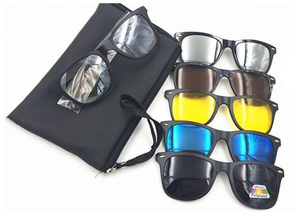 ba80dc5acace3 5 in 1 Magnetic Clip On Sunglasses