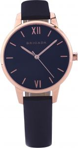 3f4d0acea6f BRIGADA Quartz Wrist Watch For Women Nice Fashion Leather Small Women Watch-  Analog Rose Gold Dial Genuine Leather Band Ladies  Watch - BJD3007L-Black