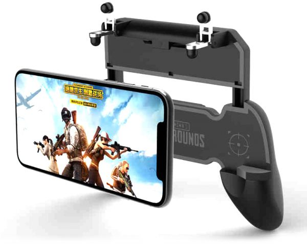 sale retailer 9b217 e3a09 W10 Battlefield Wireless Gaming Joystick Controller Grip Case for PUBG,  Compatible Holder Stand for 4.5-6.5 inch Android and iOS iPhone X/XS/R/XS  Max ...