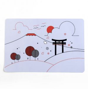Waterproof Non-slip Nonstick Heat Resistant Beautiful Pattern Placemats  Cushions Cup Coasters Dining Table Mats Home Decoration 30x45cm 4cebf363d