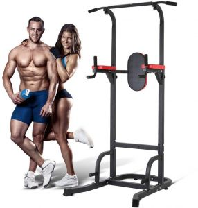 4974c9dbd7f1d Multifunction Power Tower Dip Station with Bench Adjustable Height for Home  Gym Strength Training