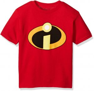 new concept 93f7f c7b04 Disney Toddler Kids The Incredbles Logo Short Sleeve Tee, Red, 3T