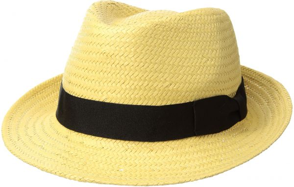 Country Gentleman Men s Durell Straw Fedora Hat a7ad7bac53ae