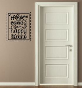 Wall Decor Plus More WDPM2783 Good Moms Happy Kids Vinyl Wall Decal Family Saying 37x20 Chocolate Brown and Red