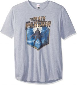 20f86796b9b1 Marvel Men's Official Panther Hex Urban Long Tee, Ath Heather, XX-Large