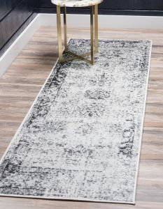 e44aa60110d Unique Loom Sofia Collection Traditional Vintage Gray Runner Rug (3  x 16 )