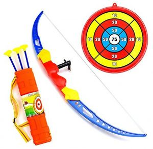 f505793a443 Wuao Kids Toy archery Bow and arrow Set with Target Quiver and 3 Suction Cup  Shot Bow for Boys Girls Indoors Outdoors Garden Fun Game